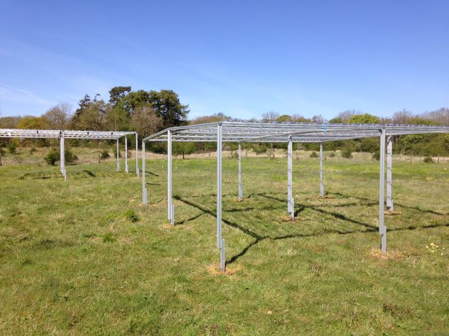 RAIN SHELTER EQUIPMENT BEING SORTED ON SITE
