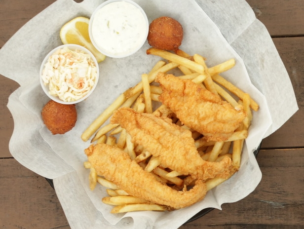 Catfish Dinner Hushpuppies Fries Cole Slaw Best in Bluegrass
