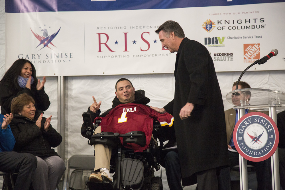 Redskins Help Army Vet Break Ground On New Home