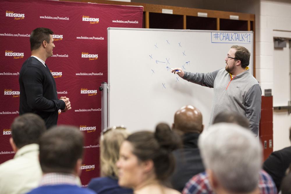 Ryan Kerrigan Hosts Chalk Talk With Redskins Season Ticket Members