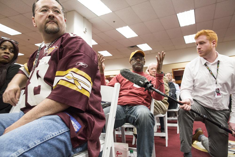 Redskins President Bruce Allen Hosts Fan Forum