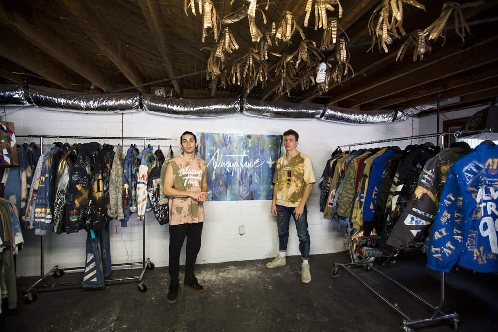 Kevin Masaro and Drew Howard, creators of local clothing company Always True, have forged relationships with popular Florida musicians via chance encounters at local venues.