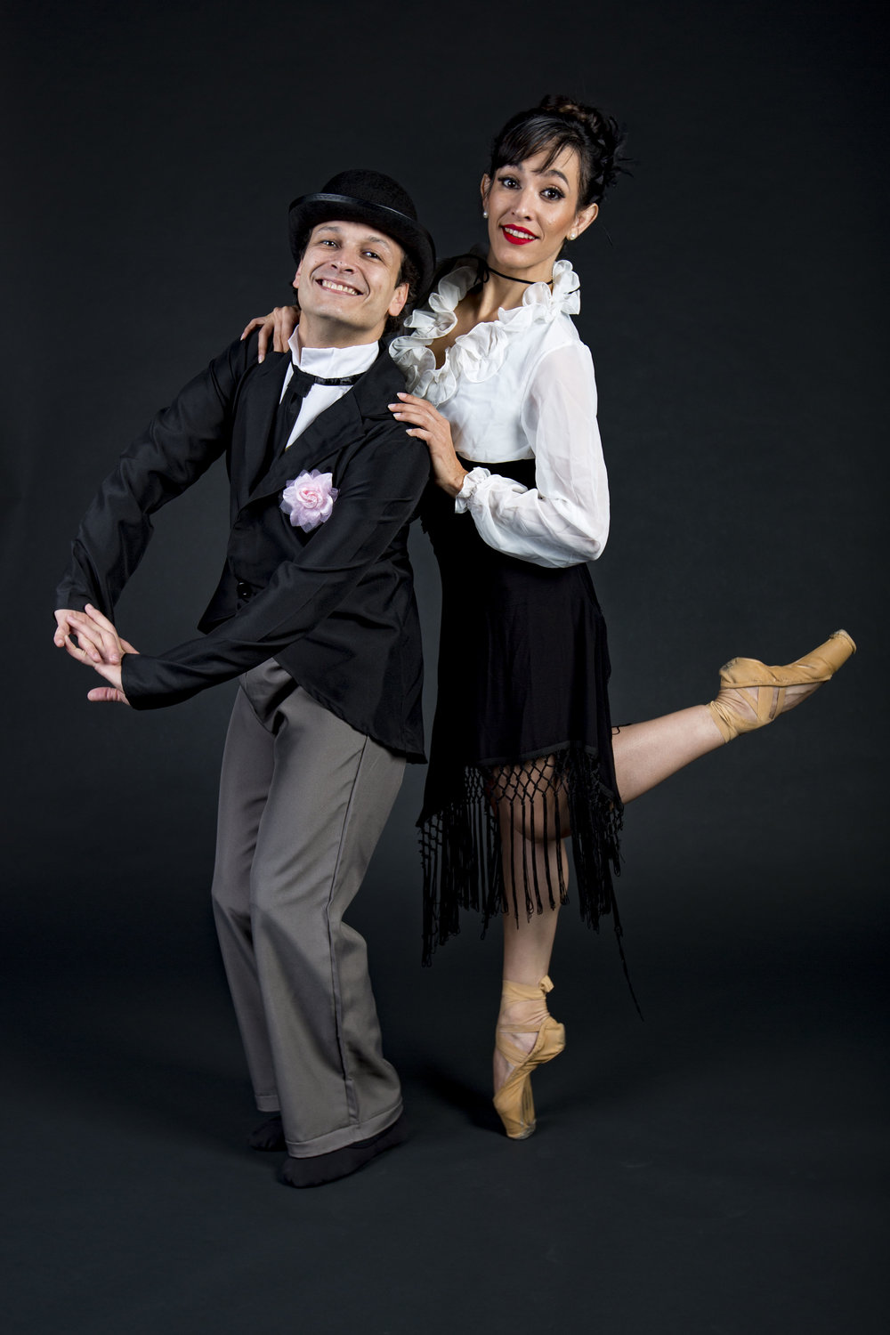 "Andre Valladon and Jessie Dominguez pose for a portrait in The Gainesville Sun Studio on February 1, 2018. The Dance Alive National Ballet will perform ""L'Amour"" at the Phillips Center on February 14, 2018."