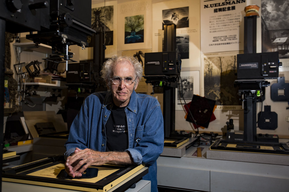 Photographer Jerry Uelsmann poses for a portrait at his Gainesville home in his darkroom on May 30, 3018.