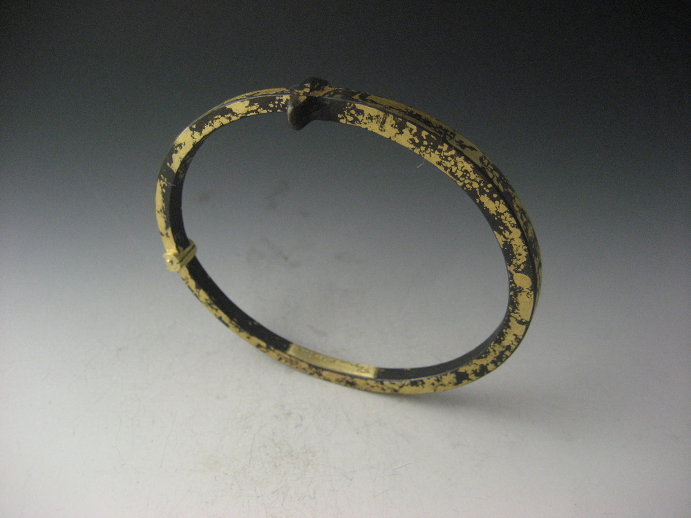 22K Men's Gold Dust Nail Bracelet