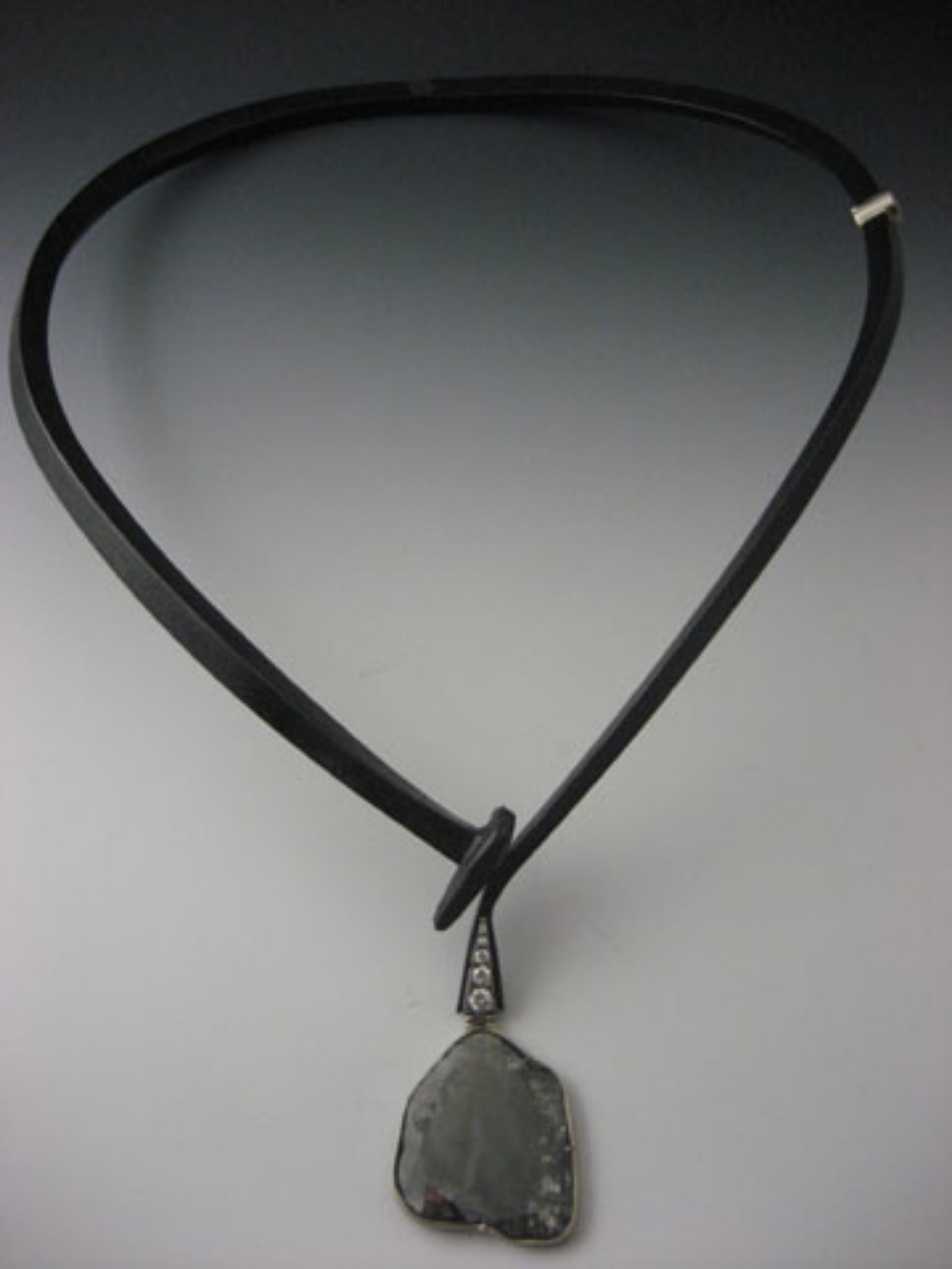 Rough Diamond Drop Neckpiece