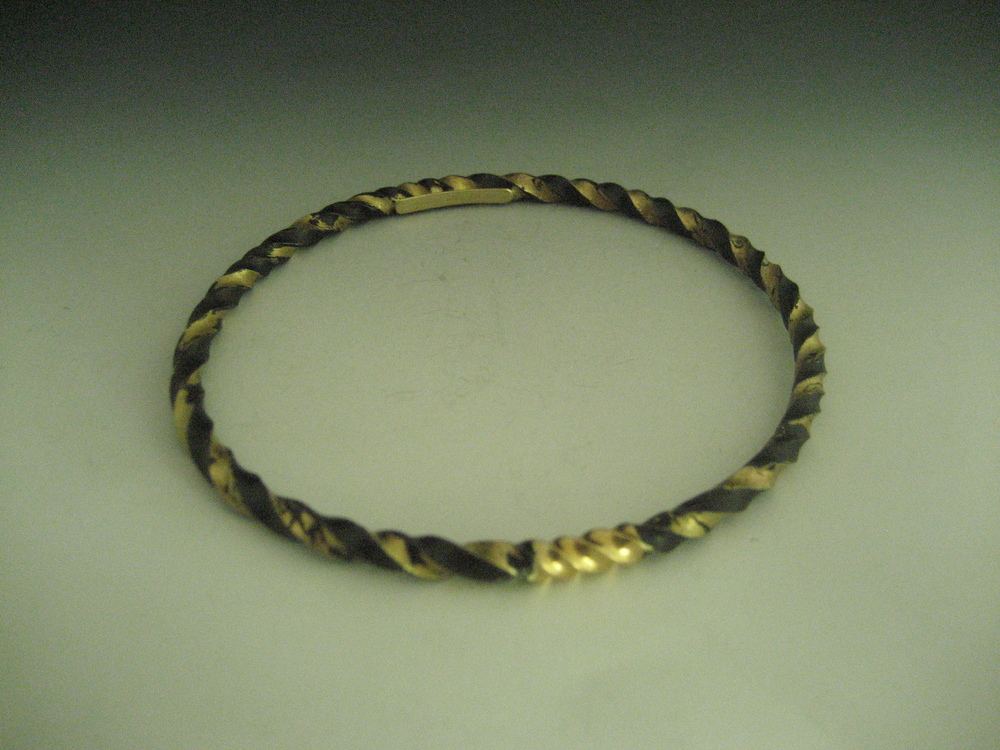 Twisted Dust with 22k Bangle
