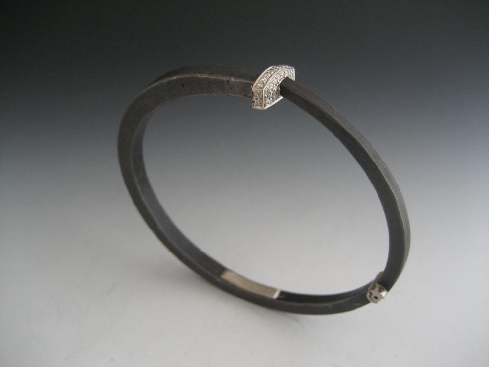 Pavé Nail Head Nail Bracelet