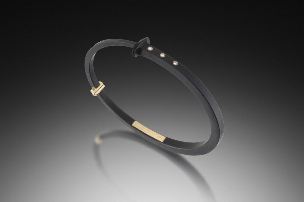 Three Stone Nail Bracelet