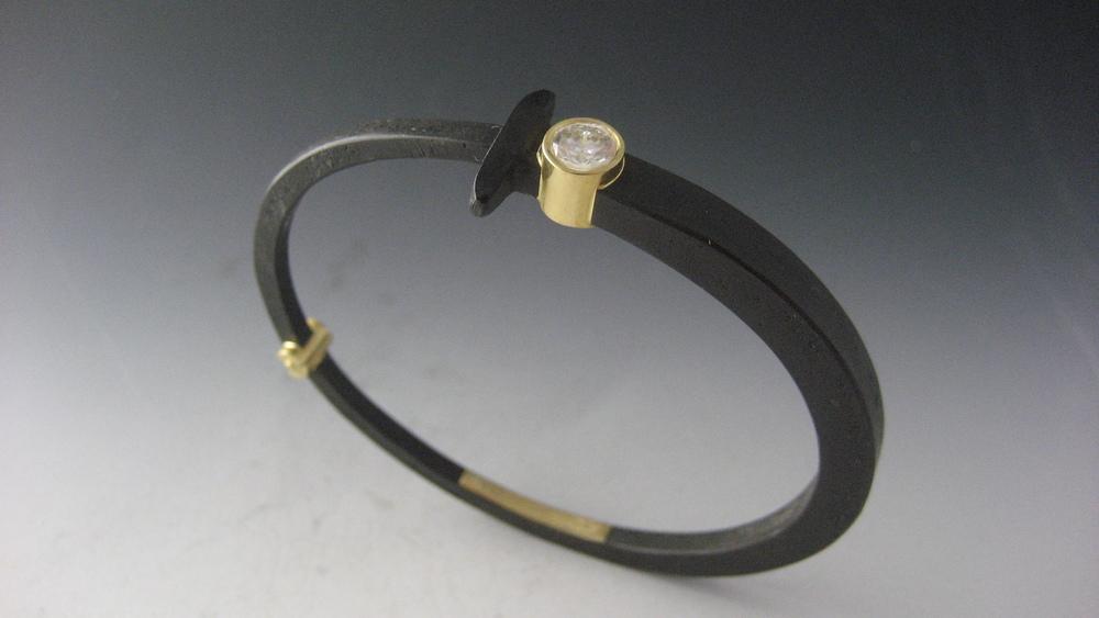 Half Carat Diamond Nail Bracelet