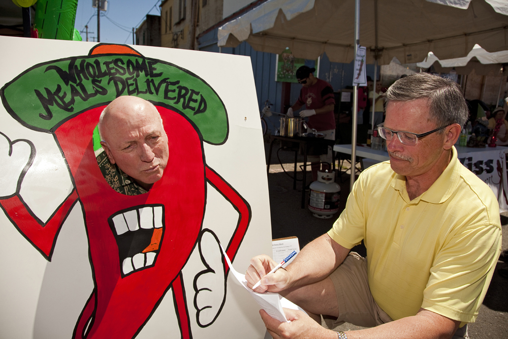 2013 Chili Cook Off - Judges Ron Davis and Kevin Stephens having too much fun2.jpg