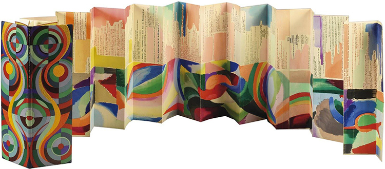 2 meter long Accordion Book - or 'Simultaneous Book',as Delaunay called it; a form of Art where Painting and Text could be united in expression.