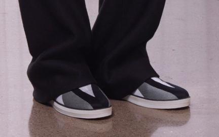 Cupsole Sneaker Design featuring Triangle Geo Textile Upper Design by Bottega Venetta CR 16