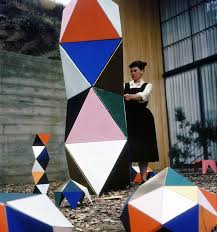 ....and beautifully too! Ray Eames with 'The Toy' in development.