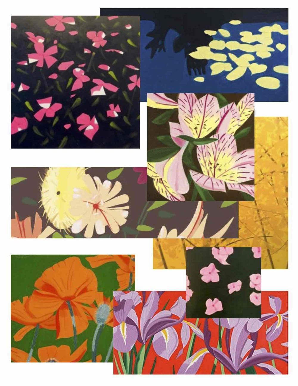 Miscellaneous Floral paintings by Alex Katz.