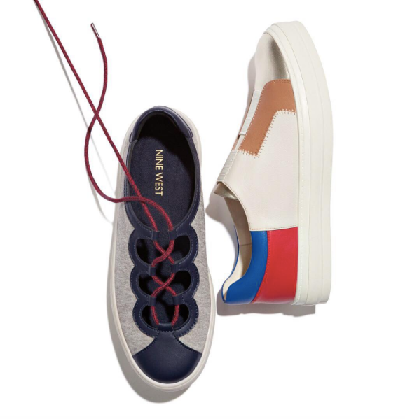 Nine West Pylot Ghillie Lace Up sneaker available now at nine west.com