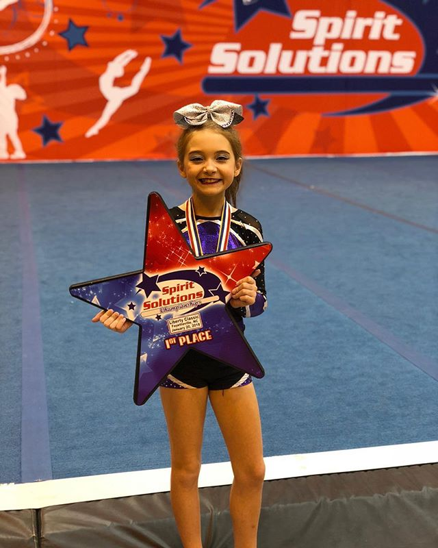 Congratulations to #Legacys youngest athlete @avery_cheers for winning her senior AND junior #cheerleading competition today!! Way to go Avery!!