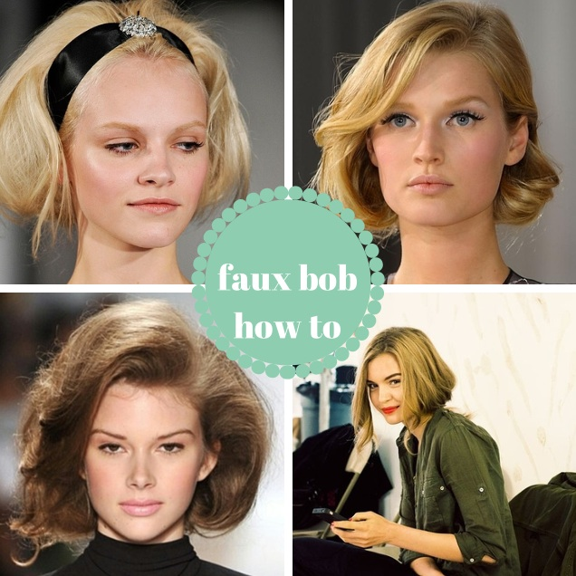 faux bob how to