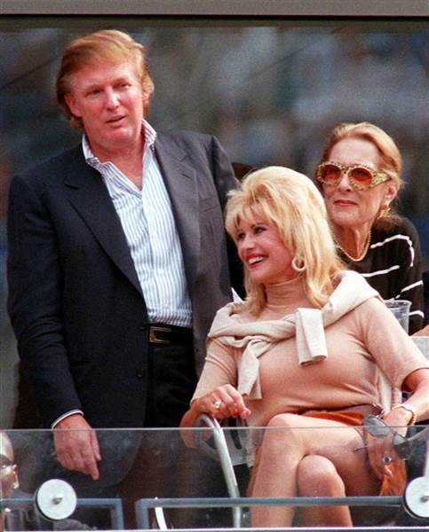Donald Trump and his ex-wife Ivana Trump in 1997.