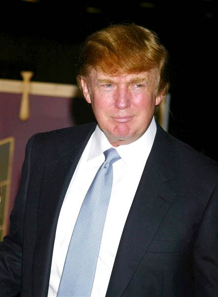 Star Max via AP Images. Donald Trump at the MTV Video Music Awards, 2002.