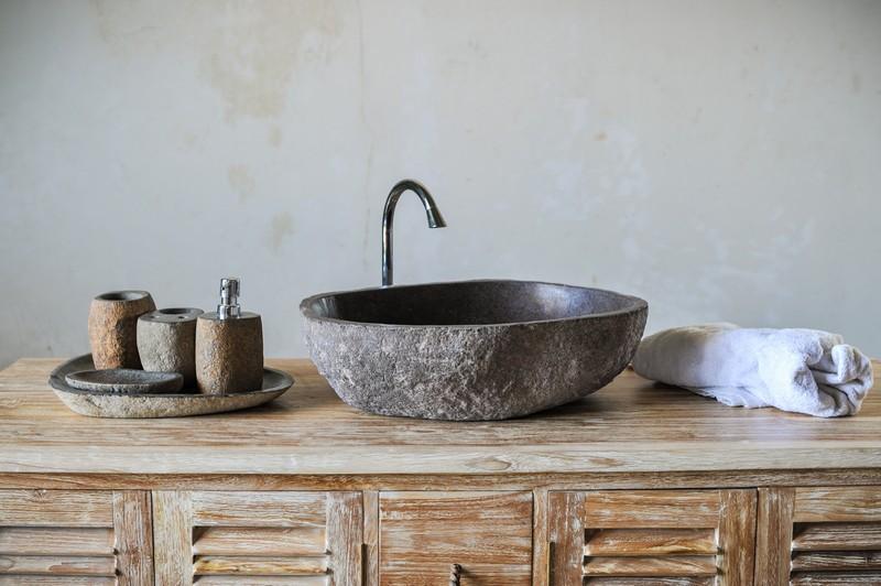 Набор для ванной из речного камня / 5 предметов