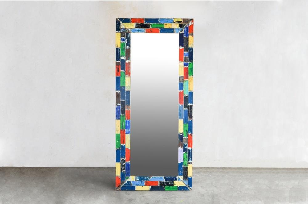 Зеркало из лодок Recycled / MIRROW LARGE