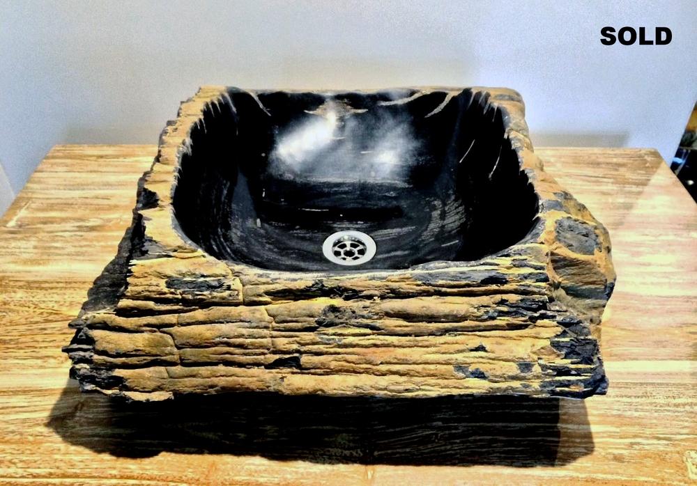 Раковины из окаменелого дерева  Раковина из натурального камня  Petrified wood sink  Fossil