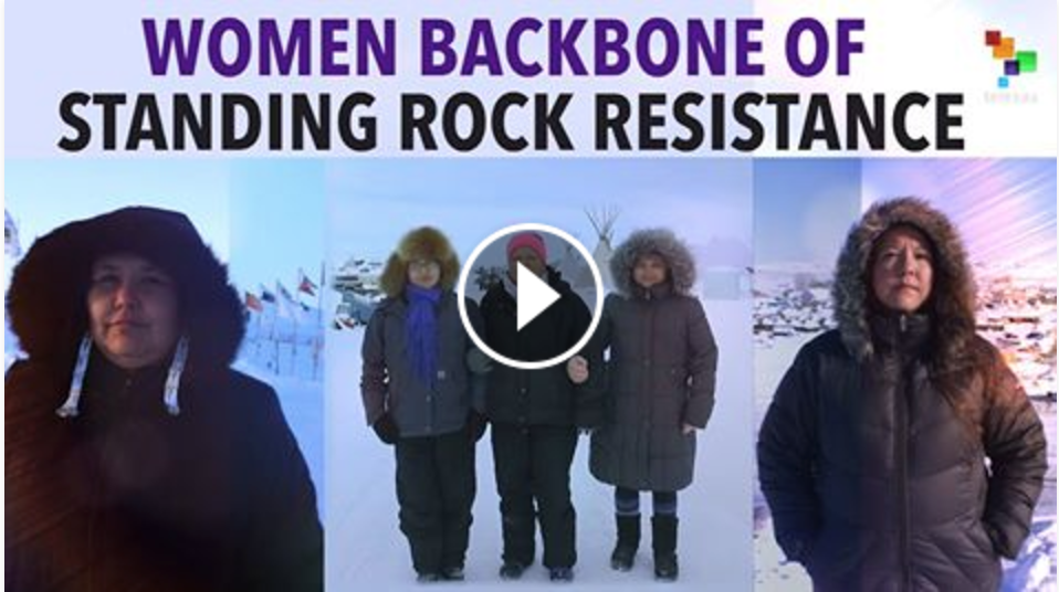 TELESUR:  Women as the Backbone of the Standing Rock Resistance.  The women of  #NoDAPL  have been the backbone of this movement and are part of a larger story. This is our most watched and shared video of the four shorts I co-produced for TeleSUR at Standing Rock.