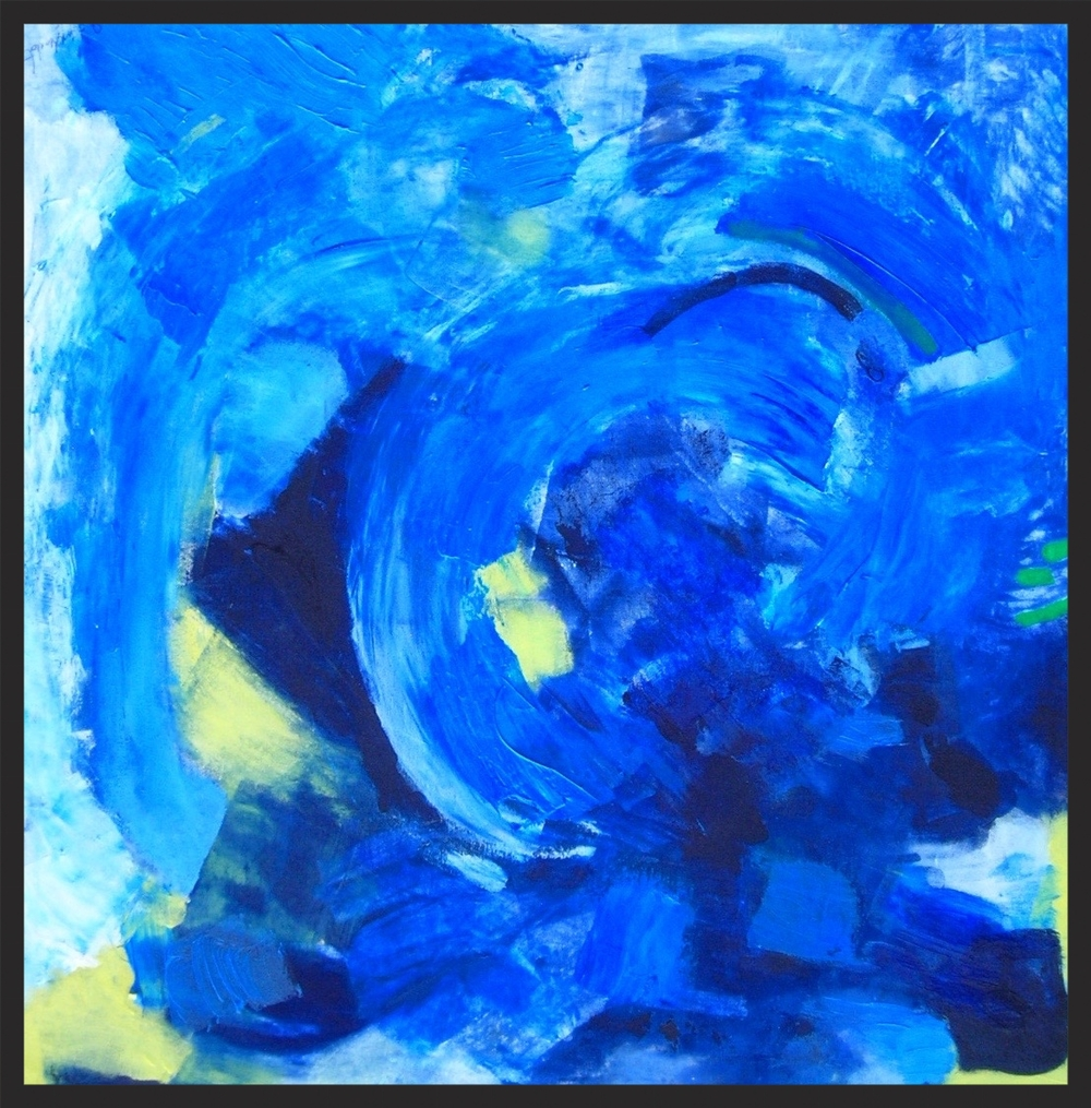 "Blue Night 32"" x 32""   Hendershot"