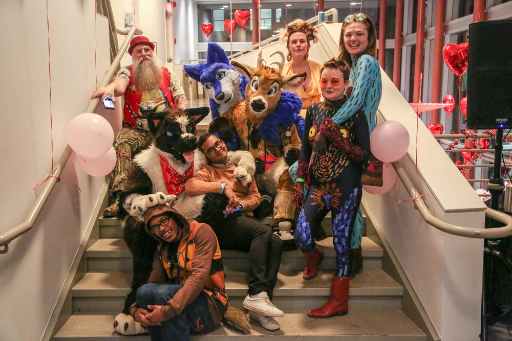 Group photo from Valentines Day Performance/Party at ICA Philadelphia, Feb. 14, 2018.  Photo by Derek Rigby.