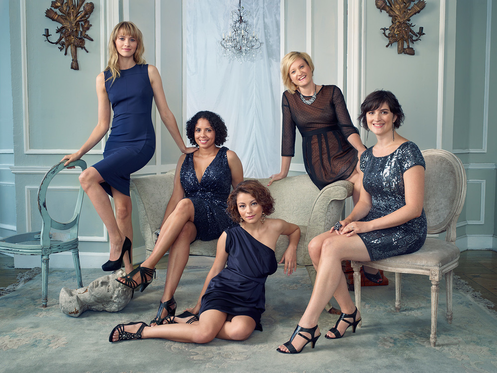 From left: model Sara Ziff, socialist presidential candidate Peta Lindsay, Intel Science Competition finalist Samantha Garvey, Hollaback founder Emily May, and birth control advocate Sandra Fluke.