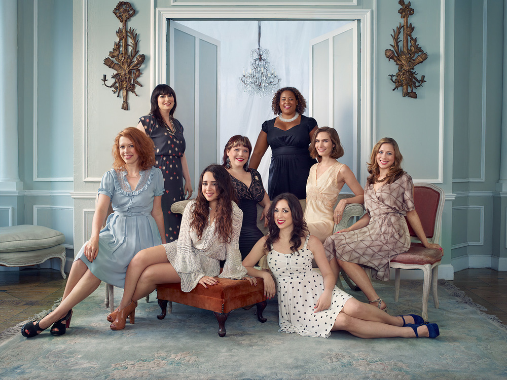 From left: Jezebel editorial assistant Madeleine Davies, Jezebel senior writer Tracie Egan, Jezebel staff writer Katie J.M. Baker, Jezebel staff writer Lindy West, Jezebel deputy editor Dodai Stewart, Jezebel staff writer Erin Ryan, Jezebel contributing editor Jenna Sauers, and Jezebel editor-in-chief Jessica Coen.