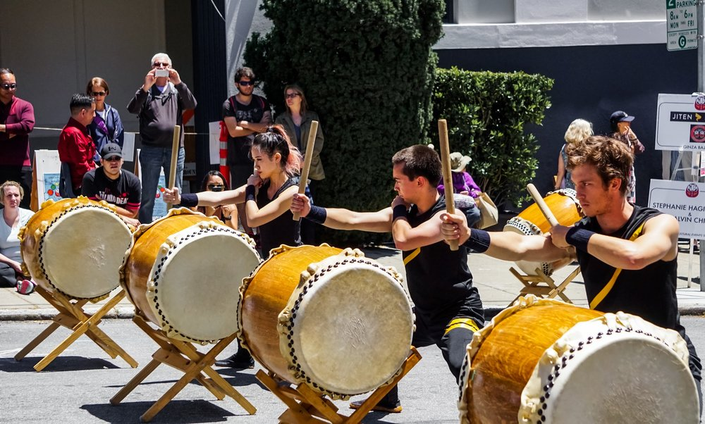 WE ARE JITEN DAIKO - Jiten Daiko is a San Francisco based Japanese Taiko drumming ensemble. We fuse traditional values with youthful, innovative energy to create exhilarating musical experiences for our audiences.