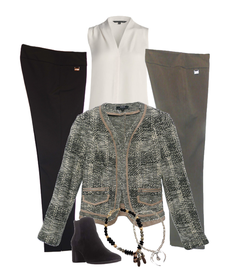 the perfect tweed jacket - works with the lisette pants you love!