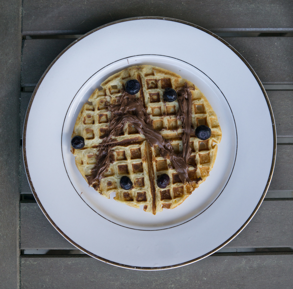 Oat Flour Waffle with Nutella