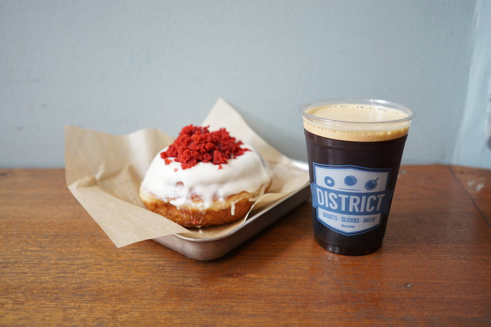 Baby girl (or boy), you need to try the Nitro at District Donuts.... and the donuts. The nitro is some of the best and most unique I had. Also, I'm not a huge fan of donuts, but I almost cried when I ate this one... it was so good.
