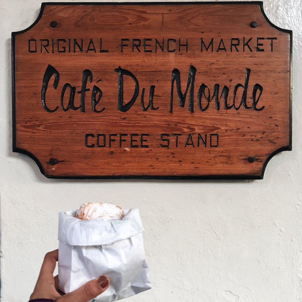 I wouldn't necessarily get coffee here unles you must. But it's kind of something you have to do. The beignets are chewy and good.