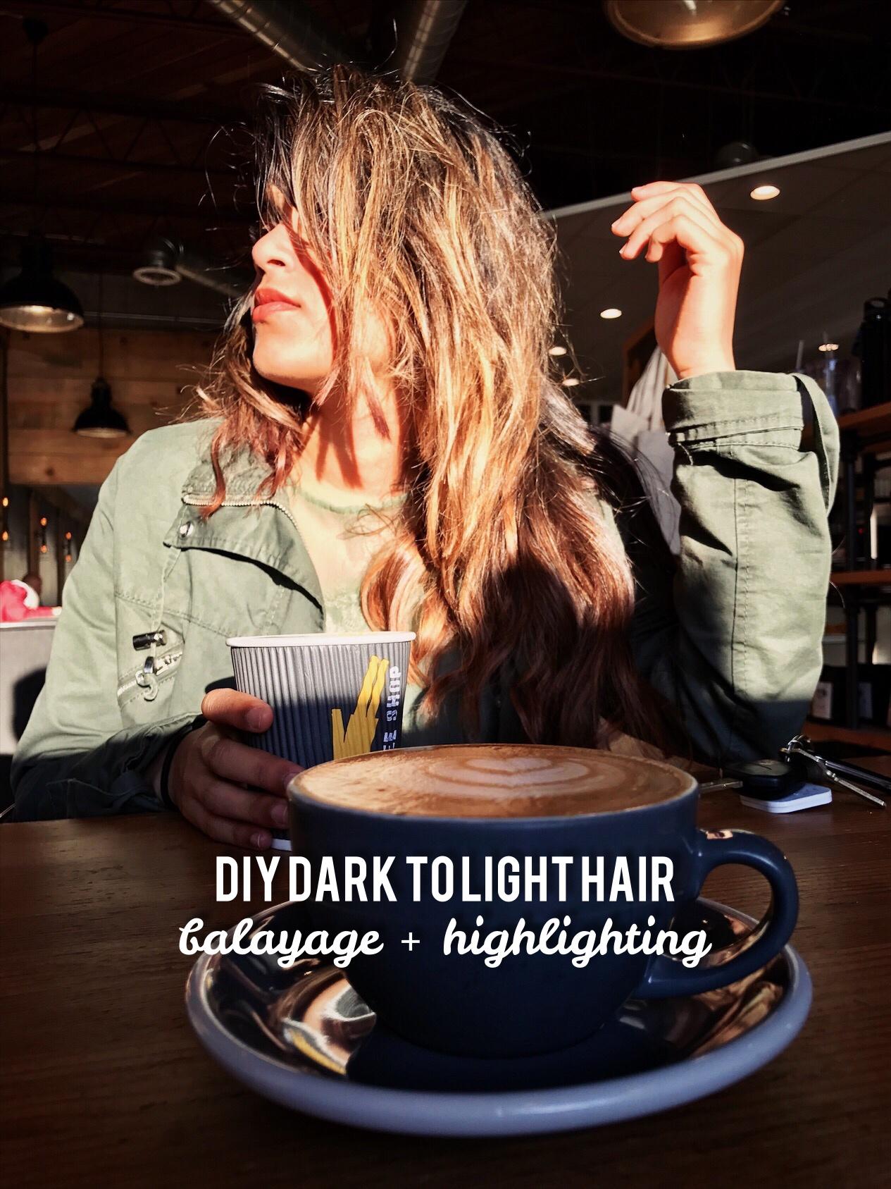 DIY Dark to Light Hair Highlighting / Balayage