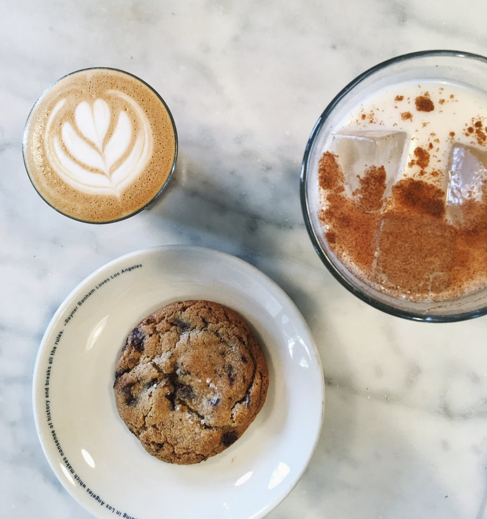 YES to the chocolate chip cookie and horchata.