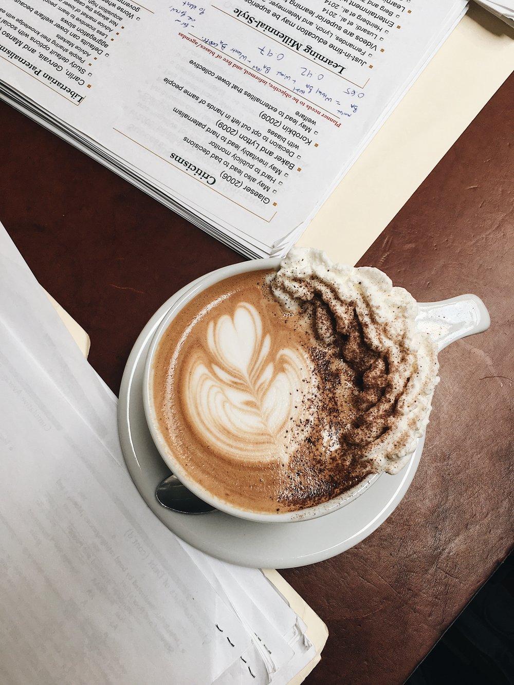 Verve Coffee and homework