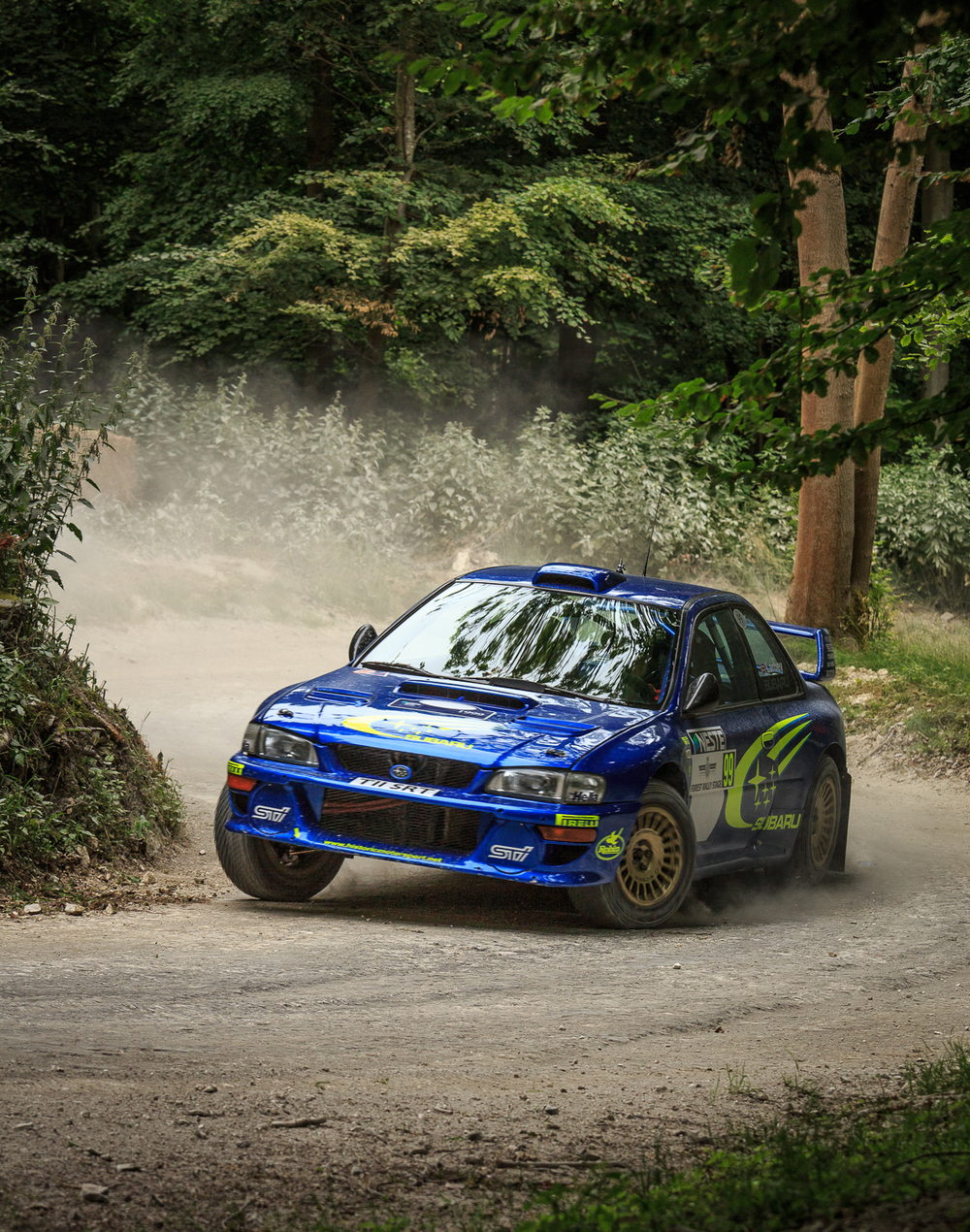 Subaru on the rally stage at Goodwood Festival of Speed 2015