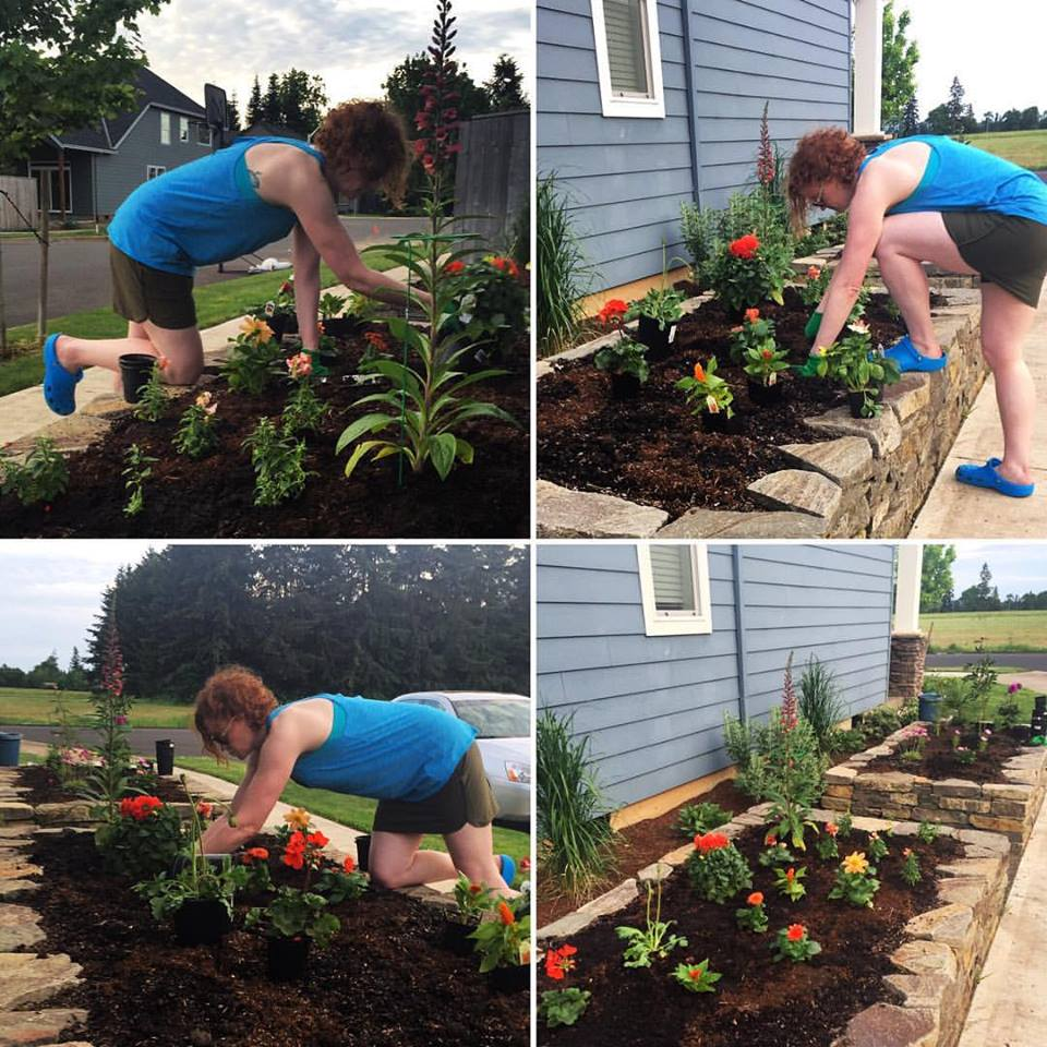 39-year-old Angi learns to garden