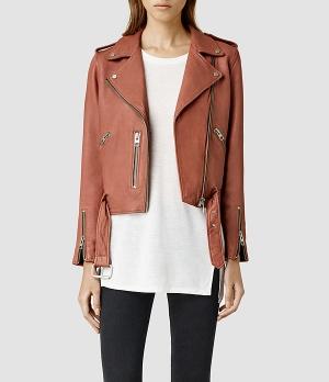 All Saints Wyatt Leather Jacket, $540