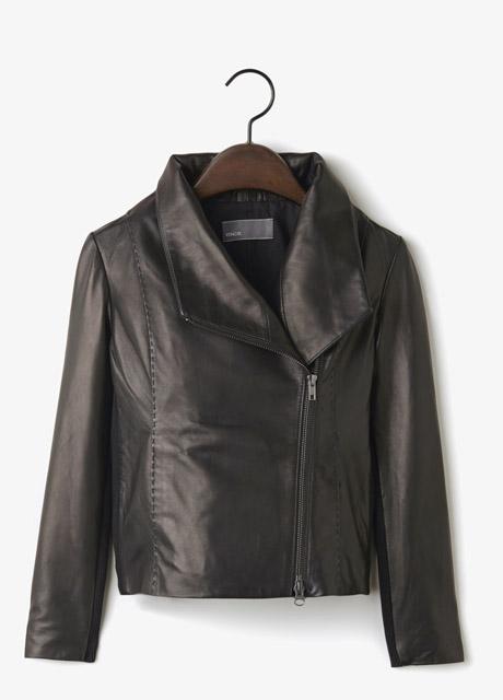 Vince Leather Scuba Jacket, $995