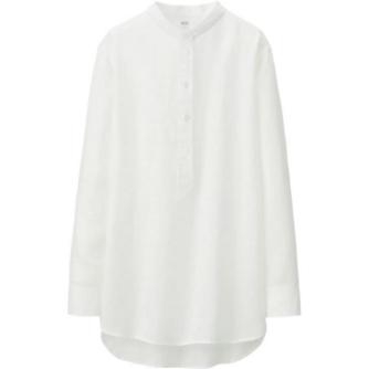 Uniqlo Long Sleeve Linen Tunic, $34.90