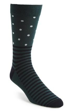Topman stripe & dot socks, $6