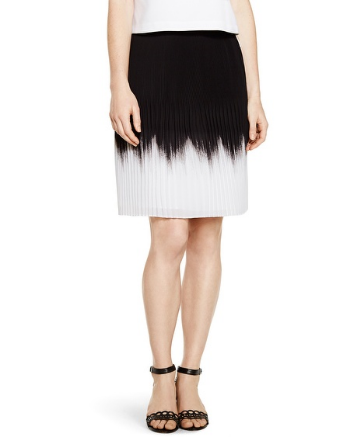 White House Black Market Pleated Ombre Skirt, $88