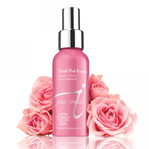 Jane Iredale Smell The Roses Hydration Spray, $29. ALL of profits are donated to Living Beyond Breast Cancer.