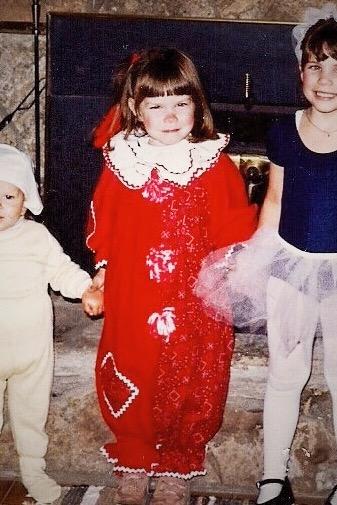 TBT: Halloween Special -Kimberly (center) as a Clown.
