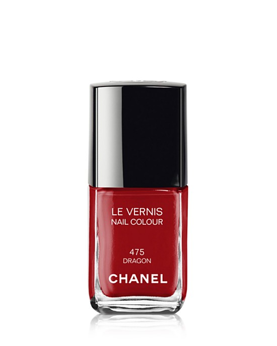 "Chanel ""Dragon"" $27 at Nordstrom.com The BEST red for classic holiday.  It's not too bright or jolly and has a hint of spice that can be enjoyed year round.  Fast drying and long wearing with a high gloss finish."